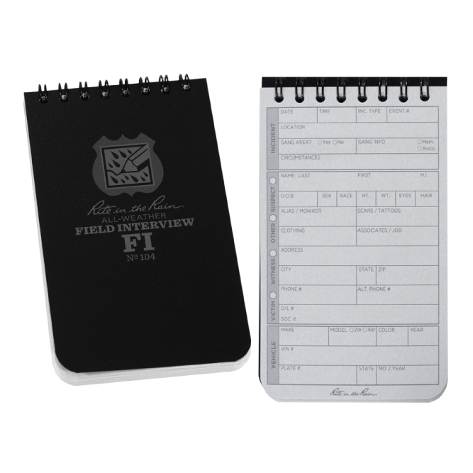 3 In X 5 In All Weather Field Interview Notebook
