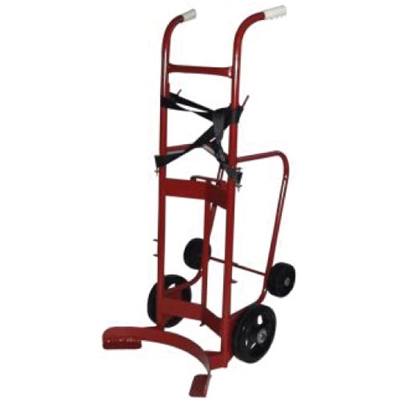 Red Steel 55 Gallon Barrel Dolly