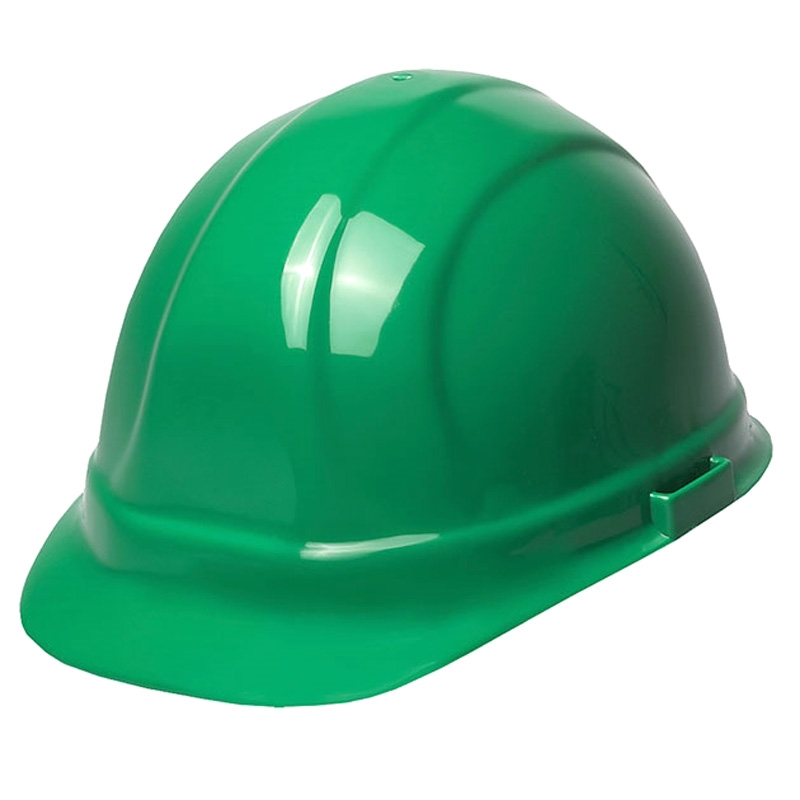 Hard Hat 6 Point Suspension With Ratchet Green