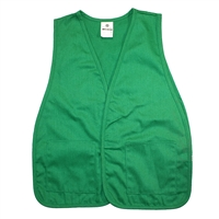 Cloth Safety Vest - Green with 2 Pockets