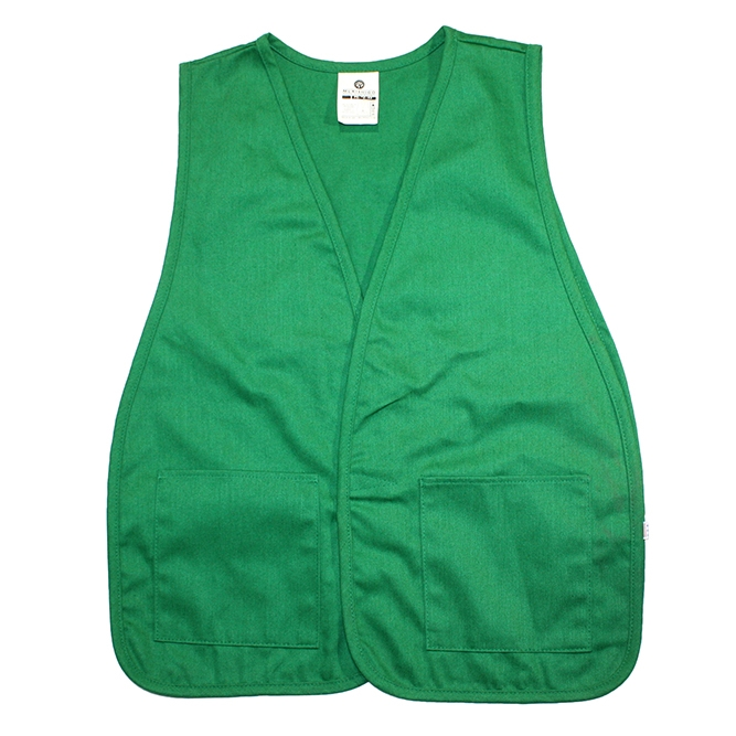 Cloth Safety Vest Green With 2 Pockets