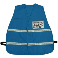 ICS Blue Cloth Safety Vest with Reflective Stripes