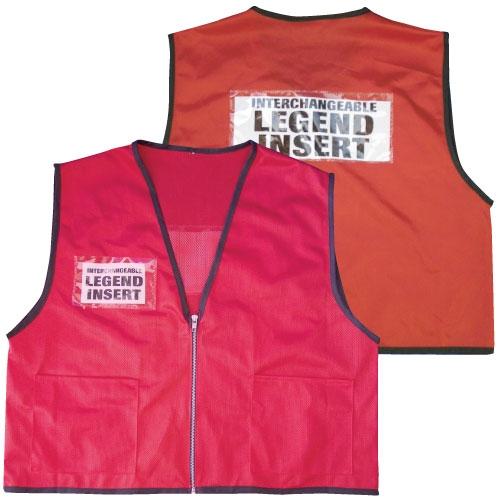 Ics Deluxe Mesh Vest Red
