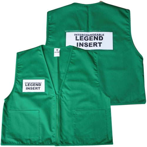Deluxe Ics Cloth Safety Vest Green