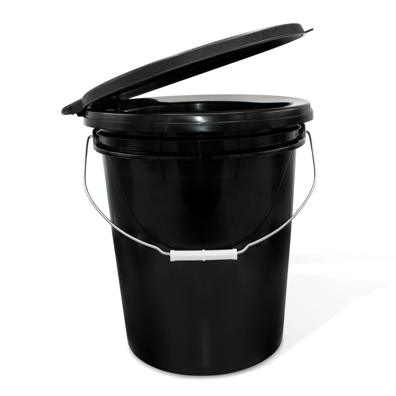 Portable Bucket Toilet With Snap On Lid Seat