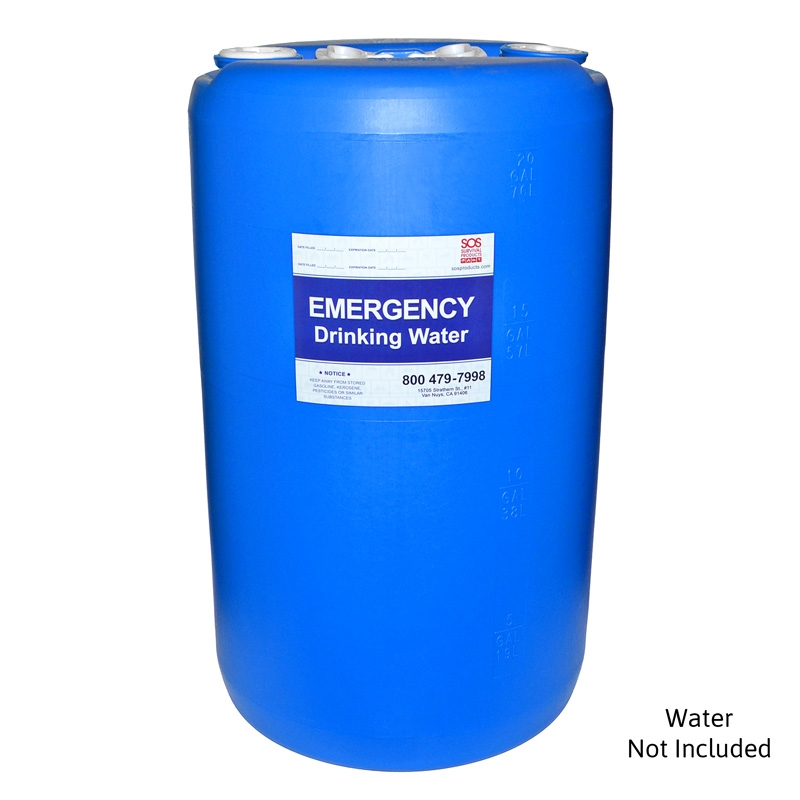 20 Gallon Emergency Water Barrel For Drinking Water Storage
