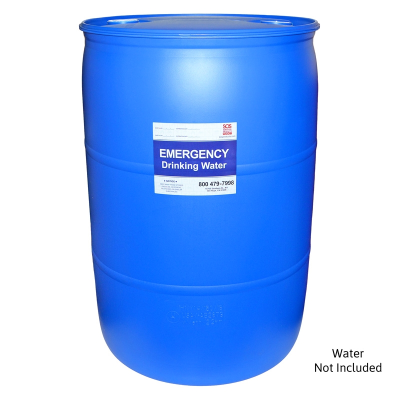 Emergency Water Barrel 55 Gallon Water Storage