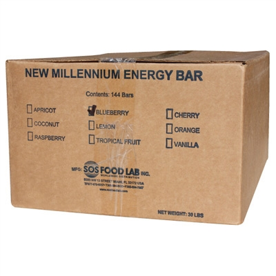 Millennium Energy Bar Blueberry Case Of 144