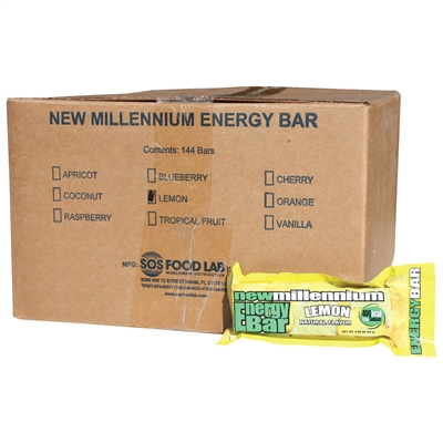 Millennium Energy Bar Lemon Case Of 144