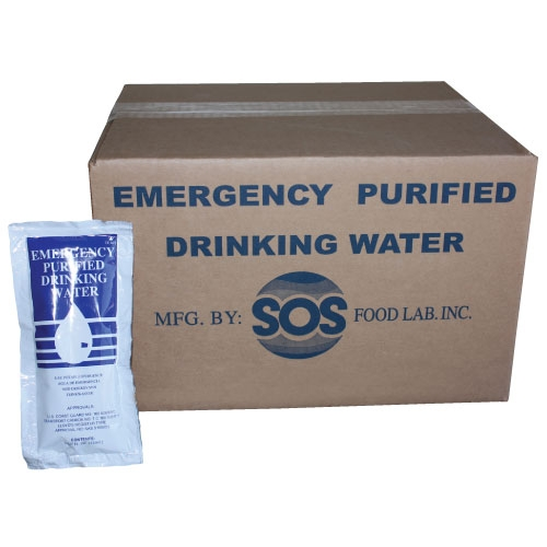 96 Pack of Foil Pouch Emergency Drinking Water