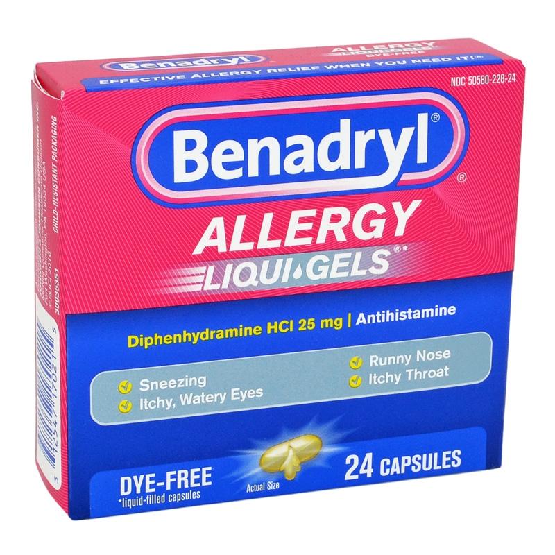 Benadryl 25 Mg