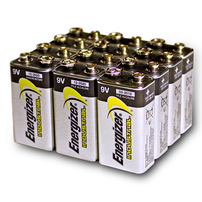 Energizer 9 Volt Alkaline Battery 12 Pack