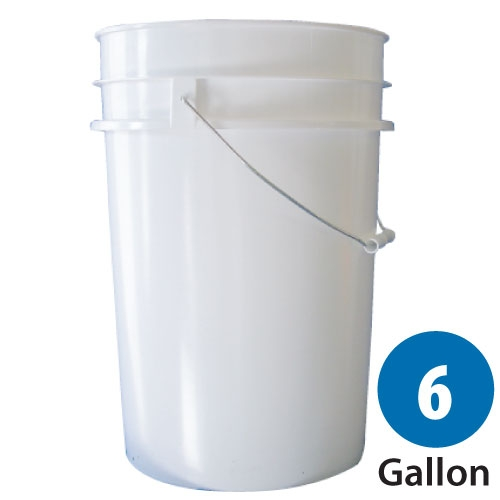 6 Gallon White Plastic Pail For Food Storage 25 Lb Bucket