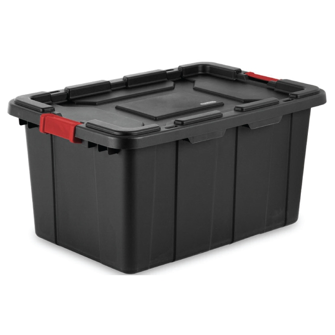 Industrial 27 Gallon Tote With Lid Amp Latches Sos Products