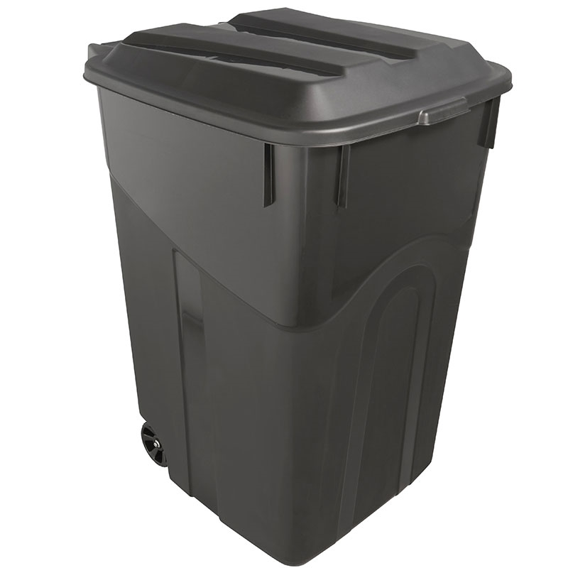 45 Gallon Trash Can With Wheels Durable Construction