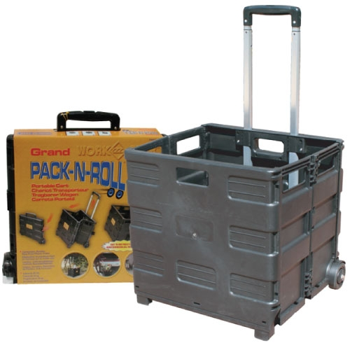 Pack N Roll Large Folding Crate On Wheels Collapsible Crate