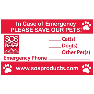 In Case of Emergency Pet Decal