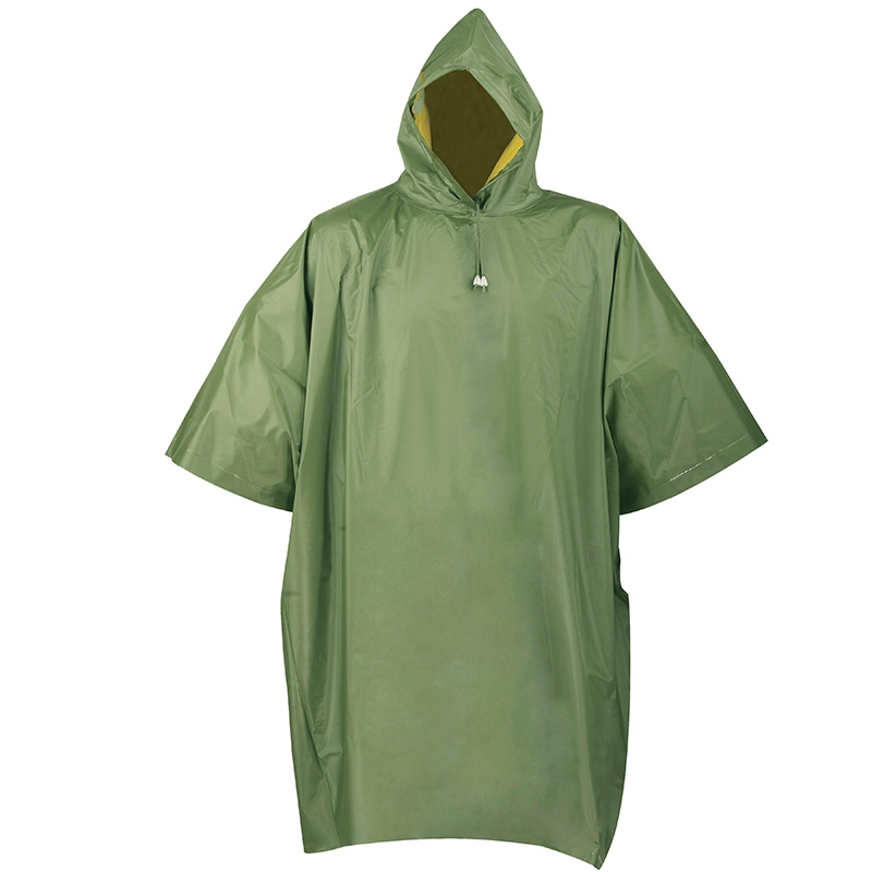 Heavy Duty Reversible Rain Poncho With Hood Amp Sleeves