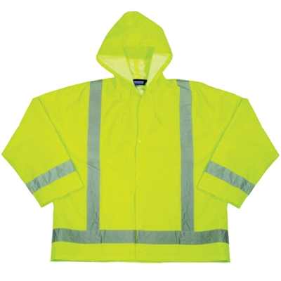 Rain Jacket with Attached Hood (Class 3) - Medium/Large