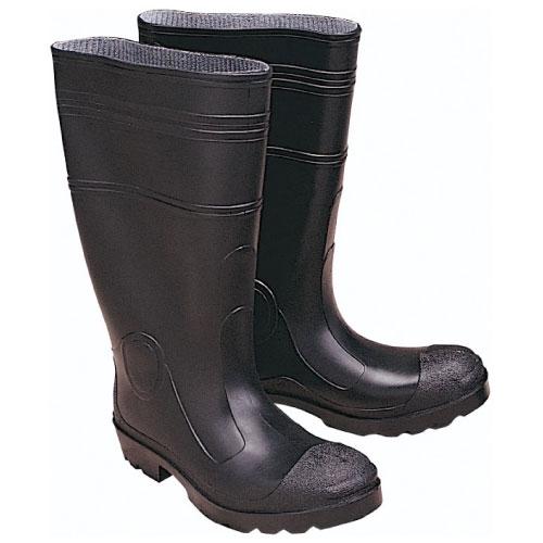 Black PVC Professional Grade Rain Boots with Nylon Lining - Size 12 ce8b78068538