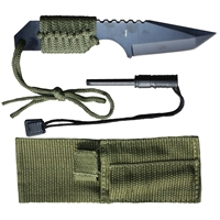 Outdoor Survival Knife with Fire Starter