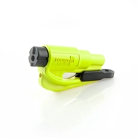 ResQMe Keychain Window Breaker / Seatbelt Cutter - Hi Vis Lime
