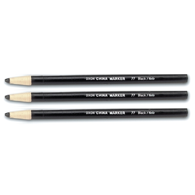 Grease Pencil - Black - 12-Pack