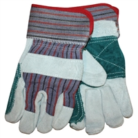 Double Leather Palmed Gloves - Large - Each