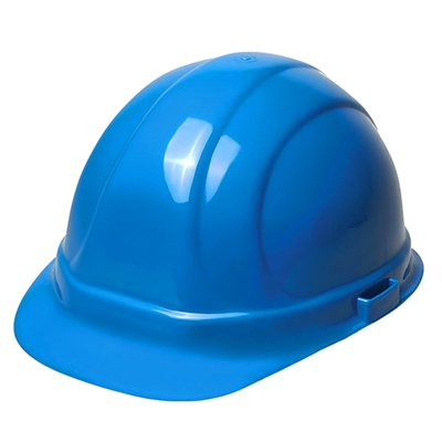 Hard Hat - 6-Point Suspension with Ratchet - Blue