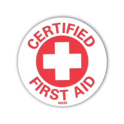 Hard Hat Emblem - Certified First Aid