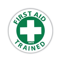 Hard Hat Emblem - First Aid Trained
