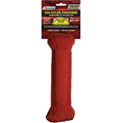 Nylon Paracord Red 100'