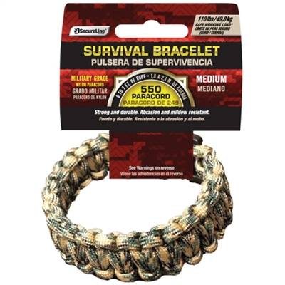 550 Paracord Survival Bracelet - Camo Large