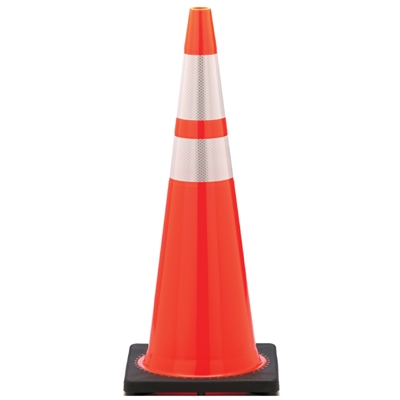 Traffic Cone with Reflective Stripes - 36