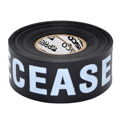 1 5 Inch Black Non Adhesive Triage Marker Tape Quot Deceased Quot