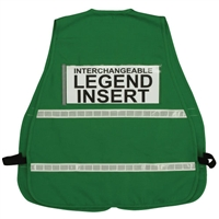 ICS Green Cloth Safety Vest with Reflective Stripes