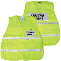 ICS Yellow Cloth Safety Vest with Reflective Stripes