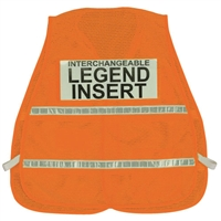 ICS Orange Mesh Vest with Reflective Stripes