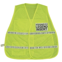 ICS Lime Mesh Safety Vest with Reflective Stripes