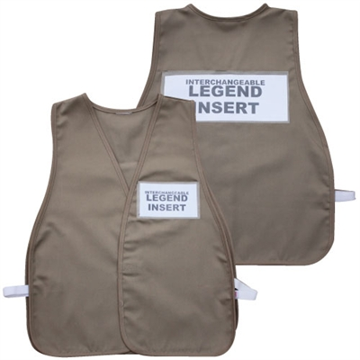 ICS Cloth Safety Vest - Tan
