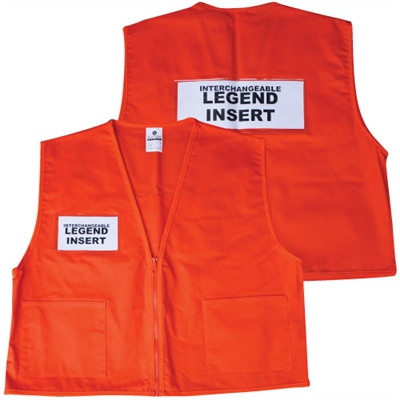 Deluxe ICS Cloth Safety Vest - Orange