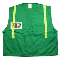Deluxe ICS Cloth Vest with Stripes - Green