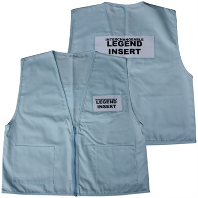 Deluxe ICS Cloth Safety Vest - Light Blue