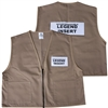 Deluxe ICS Cloth Safety Vest - Tan
