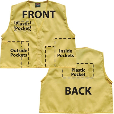 Deluxe ICS Cloth Safety Vest - Yellow