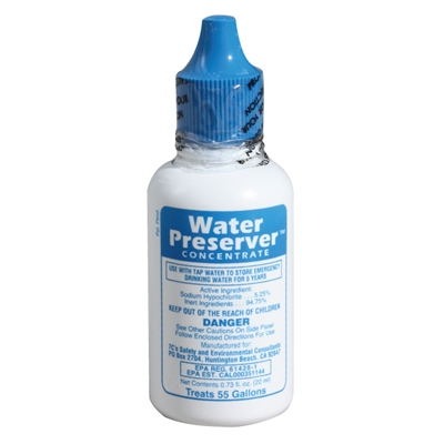 Water Preserver Concentrate Treats 55 Gallons Of Water
