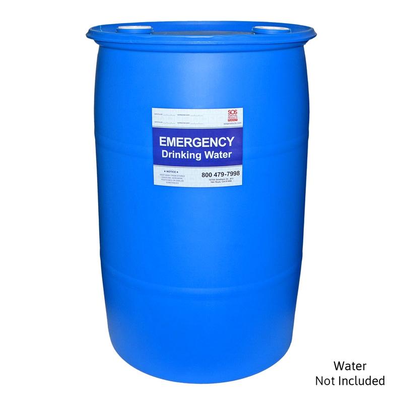 30 Gallon Water Barrel Emergency Drinking Water Storage