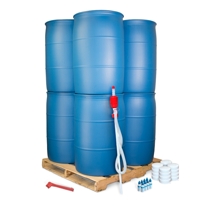 55 Gallon Barrel Pallet Kit  sc 1 st  SOS Survival Products & Emergency Water Barrel Pallet Kit | 55 Gallon | Water Storage