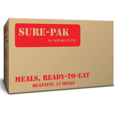 Sure-Pak MRE Type Meal Packs with Heater - 12 per Case