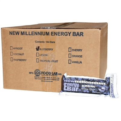 Millennium Energy Bar - Blueberry - Case of 144